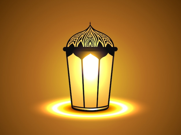 Simple islamic background with lantern