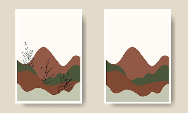 Simple lanscape shape wall art cover collection