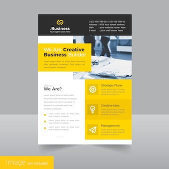 Simple Leaflet Flyer Design Template