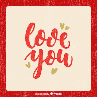 Simple lettering valentine background