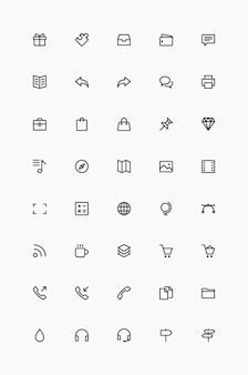 Простые иконки линии