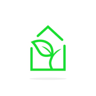 Simple linear greenhouse logo. concept of foliage, roof, conservatory, construction, sun energy, botany, cottage template, agronomy. flat style trend modern brand graphic design on white background