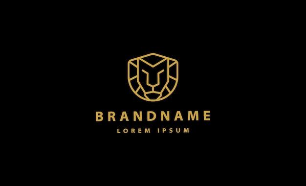 Simple lion logo vector design illustration