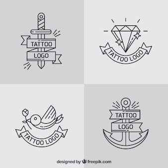Simple logo tattoo collection