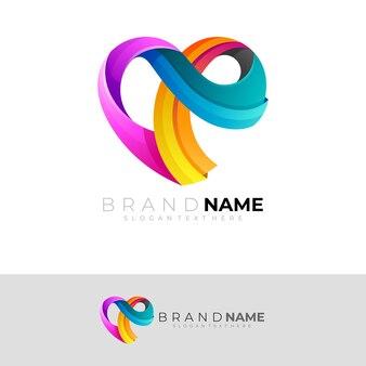 シンプルなデザインのシンプルなラブケアロゴ