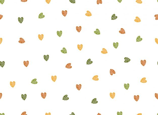Simple love heart seamless pattern