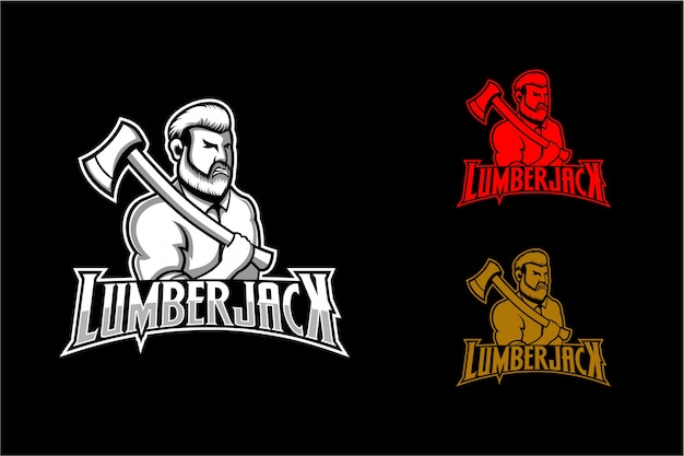 Simple lumberjack logo