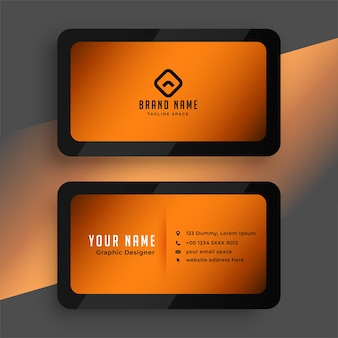 Simple luxury business card template