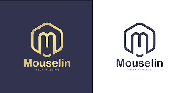 Simple m letter logo with