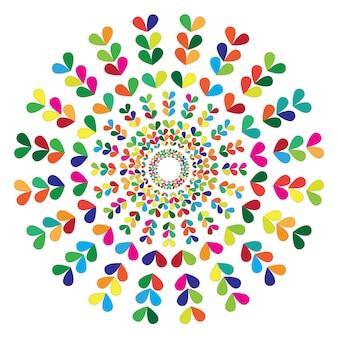 シンプルな曼荼羅。ベクトル曼荼羅。フローラル。花。オリエンタル。ブックページ。概要。