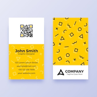 Simple memphis business card template