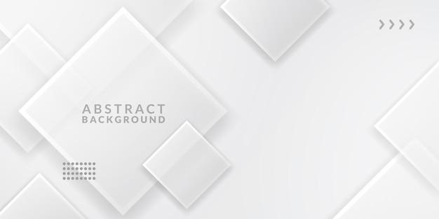 Простой минимализм абстрактный белый фон. элегантная роскошь с квадратным рисунком стекла