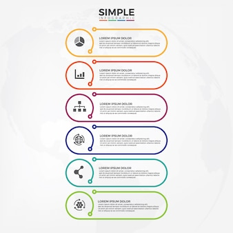 Simple and minimalism style infographic template