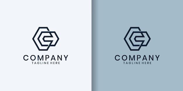 シンプルなミニマリストc文字のロゴ