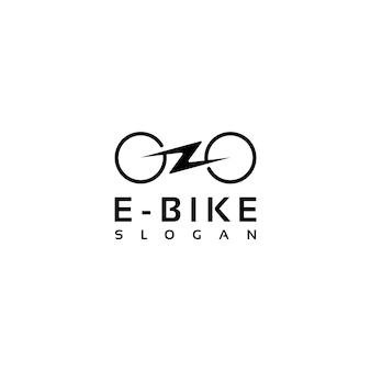 Simple minimalist electric bike bicycle logo design