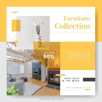 Simple minimalist furniture sale social media post template