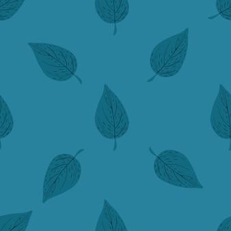 葉飾り付きのシンプルなミニマルなシームレスパターン。
