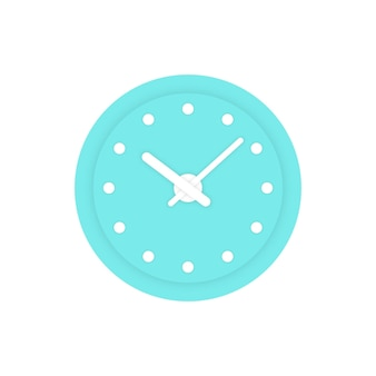 Simple mint clock icon. concept of alert, measurement, accuracy, precision, optimization, control, mechanism. isolated on white background. flat style trend modern logotype design vector illustration
