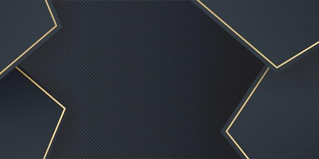 Простой современный абстрактный геометрический золотой и черный фон
