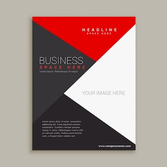 Simple modern brochure with triangles