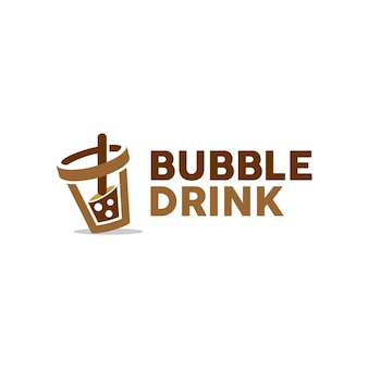 Simple modern bubble drink logo design ideas