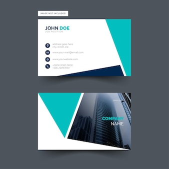 Simple and modern business card design