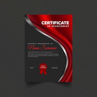 Simple modern certificate design template