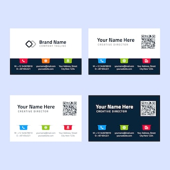 Simple modern colorful business card template