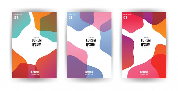 Simple modern covers template design