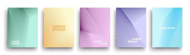 Простой современный шаблон обложек, набор минимальных геометрических градиентов полутонов