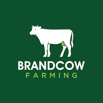 Simple and modern cow logo for company business community team etc
