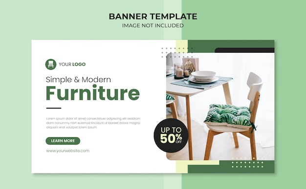 Simple and modern furniture banner template