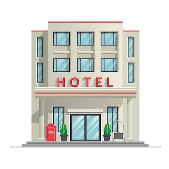 シンプルでモダンなホテル