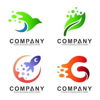 Simple modern logo design collection