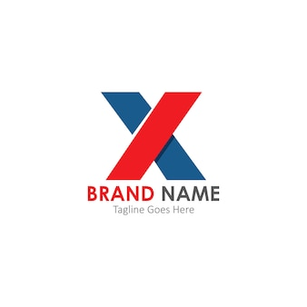 Simple and modern logo of letter x