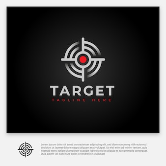 The simple and modern logo target