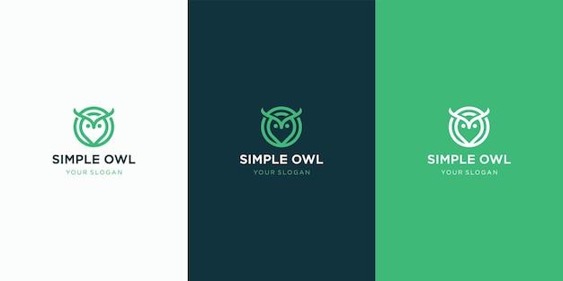 シンプルでモダンなフクロウのロゴ