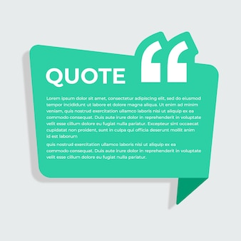 Simple and modern quote box template