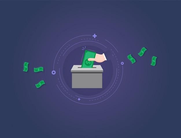 Simple money donation illustration