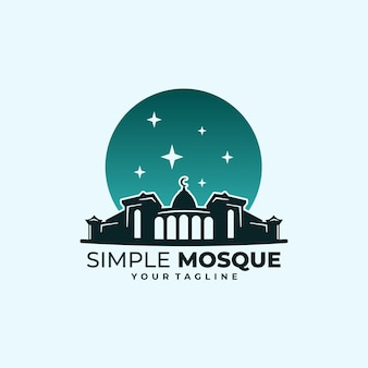 Simple mosque logo classic style