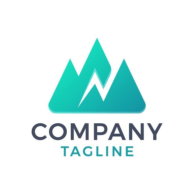 Простое горное освещение, быстрое 3d градиентное логотип