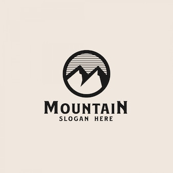 Simple mountain logo template. vector illustration