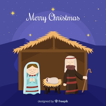 Simple nativity background