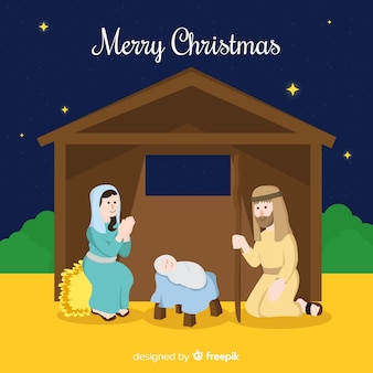 Simple nativity background