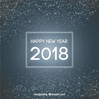 Simple new year background with silver glitter