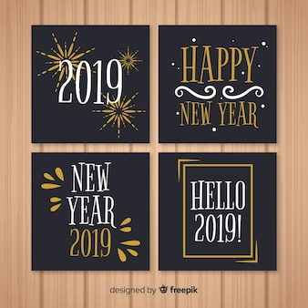 Simple new year card pack