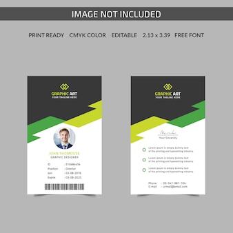 Simple office id card themplate
