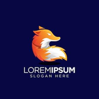 Simple orange fox logo