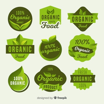 Simple organic food label pack