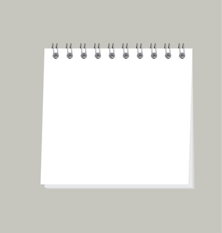 Simple organizer illustration. template of blank page note pad